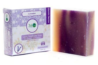 (Lavender) - Handmade Soap Lavender, X-LARGE 150ml Handmade Soap bar- Lavender floral fragrance - Normal to dry skin, Natural Soap - Organic Castile lye Soap, Made in USA- 360Feel