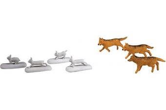 (Figures, Wolves & Rabbits) - Lionel Trains - The Polar Express Wolves & Rabbits People Pack, O Gauge