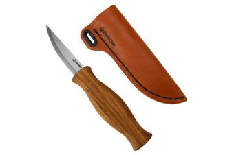 (Knife Sheath Kit) - Wood Carving Sloyd Knife for Whittling and Roughing for Beginners and Profi - Durable High Carbon Steel - Spoon Carving Tools - Thin Wood Working (Knife Sheath Kit)