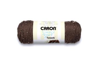 (Taupe) - Caron Simply Soft Tweeds Yarn (4) Medium Gauge 100% Acrylic - 150ml - Tae - Machine Wash & Dry