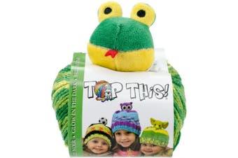 (Frog) - DMC Glow Yarn Kit Top This GlowInThe Dark Frog