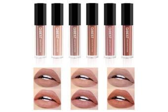 (6 pc) - Coosa 6PCS Matte Velvety Liquid Lipstick Matte Lipstick Non-stick Cup Waterproof Lipgloss