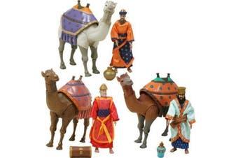 Birth of Jesus Three Wisemen and Camels Action Figure Set