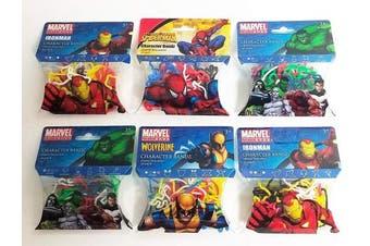 Encore Marvel Avengers Character Wrist Silly Bandz (6pk) 184 Bands Iron Man Spiderman Hulk Wolverine Infinity War
