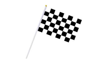 Cloud-X 30PCS Chequered Flags 20cm x 14cm Racing Polyester Flags with Plastic Sticks Black & White Racing Flag for Racing, Race Car Party,Sport Events