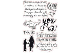 (Make Me Smile) - Mother Dog Birthday Sentiments Sayings Phrase Rubber Clear Stamp/Seal Scrapbook/Photo Decorative Card Making Clear Stamp (Make Me Smile)