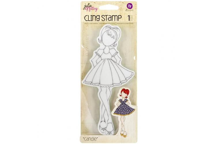 Prima Marketing Julie Nutting Mixed Media Cling Rubber Stamps, Candie