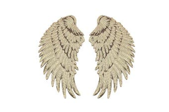 (gold) - Artem 1 Pair Gold Sequins Angel Wings Sew On Iron On Patch DIY Embroidered Applique Bling Wings for Jackets Cloth Decoration Accessory Stickers Gifts 4 Colours