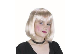 Girl's Blonde Short Hair Costume Wig