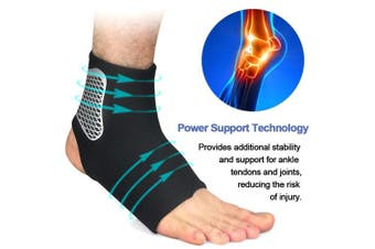 (Xlarge, Black) - Beister 1 Pair Athletic Ankle Brace for Women and Men, Firm Compression Support Sprain Ankle Sleeve for Sports, Running, Basketball, Injury Recovery, Joint Pain Relief