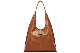 (Brown, Large) - BOSTANTEN Women Hobo Handbag Ladies Oversized Big Bags for Work Office University Soft Leather Designer Vintage Shoulder Bag Brown