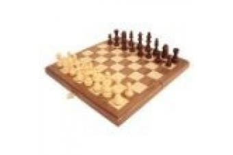 30cm Magnetic Folding Walnut Chess Set