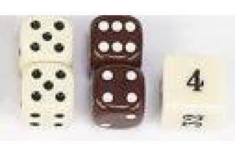 Backgammon Dice-Brown 1.3cm