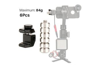 Universal Gimbal Counterweight 6 Weigts Supporting 84g Compatible for iPhone Zhiyun Smooth 4 Q/Feiyu Vimble 2 / DJI Osmo Mobile 2 / Evo/Smartphone Gimbal Stabiliser