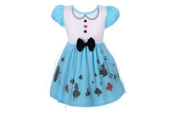 (18-24 Months, Alice 1) - Lito Angels Baby Girls Alice Dress Fancy Dress Birthday Halloween Costumes Party Dress Size . 100