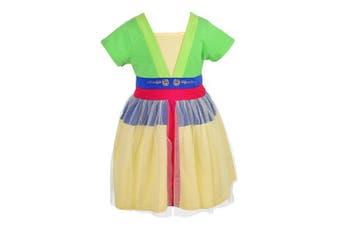 (2-3 Years, Mulan) - Lito Angels Little Girls Mulan Dress Fancy Dress Birthday Halloween Costumes Party Dress Size .