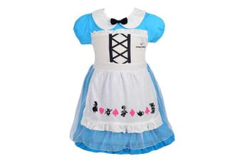 (3-4 Years, Alice 2) - Lito Angels Little Girls Alice Dress Fancy Dress Birthday Halloween Costumes Party Dress Size 3-4 Years 150