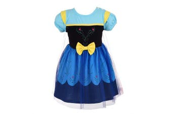 (12-18 Months, Blue Anna) - Lito Angels Baby Girls Princess Anna Dress with Cape Fancy Halloween Costumes Party Dress Size 12- .