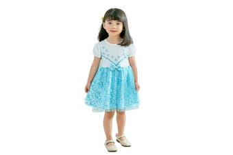 (2-3 Years, Elsa) - Lito Angels Little Girls Princess Elsa Dress with Cape Fancy Halloween Costumes Party Dress Size .
