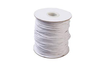 (2mm, White) - Craftdady 100 Yards 2mm Waxed Polyester Cord Macrame Bracelet Necklace Jewellery Making Waxed Beading Thread String (White)