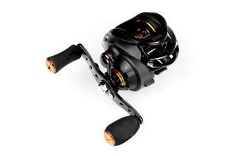 (Black- Right Handed Reel) - Akataka Baitcasting Fishing Reels,Super Light Durable 7:1 High Speed Gear Ratio Casting Reel with Powerful Magnetic Braking System