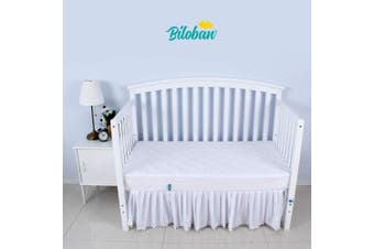 Zippered Crib Mattress Protector - Waterproof Crib Mattress Encasement, Breathable 6 Side Fully Encased Crib Mattress Cover.