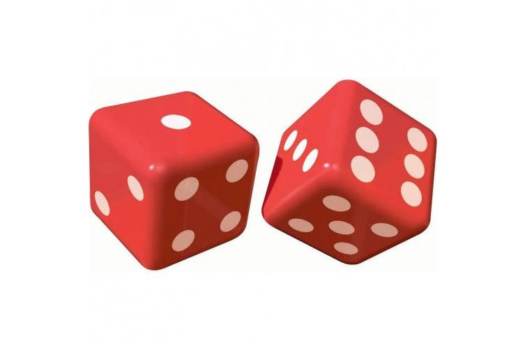 Amscan 30cm Casino Inflatable Dice Decorations
