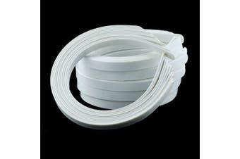 (WHITE) - 50PCS Amersumer 1.3cm Girls No Teeth White Plastic Headbands Hair Accessories.