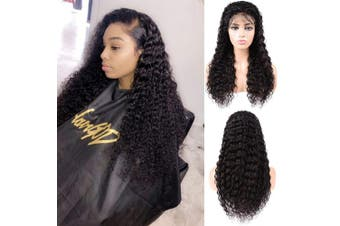 (20, Natural Color) - Lace Front Human Hair Wigs Brazilian Glueless Virgin Hair Deep Wave Human Hair Wig 150% Density Natural Colour Human Hair Wigs Pre Plucked With Baby Hair Wigs For Black Women (20, Natural Colour)