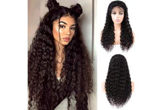 (14, Natural Color) - Lace Front Human Hair Wigs Brazilian Glueless Virgin Hair Deep Wave Human Hair Wig 150% Density Natural Colour Human Hair Wigs Pre Plucked With Baby Hair Wigs For Black Women (14, Natural Colour)