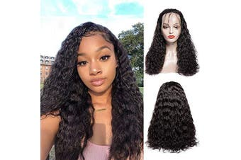 (18, Natural Color) - 9A Brazilian Water Wave Wig Lace Front Human Hair Wigs With Baby Hair Human Hair Lace Front Wigs Pre Plucked Hairline 150% Density Natural Colour Wigs For Black Women (18, Natural Colour)