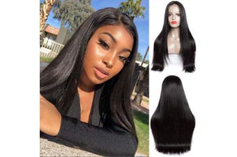 (16, Natural Color) - Straight Lace Front Wig Brazilian Unprocessed Virgin Hair Human Hair Wigs 150% Density Natural Colour Lace Front Human Hair Wigs For Black Women Pre Plucked With Baby Hair (16, Natural Colour)