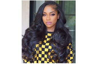 (41cm , Natural Color) - Human Hair Lace Front Wigs Body Wave Wig Pre Plucked With Baby Hair Brazilian Unprocessed Virgin Hair 150% Density Natural Colour Human Hair Wigs For Black Women (41cm , Natural Colour)