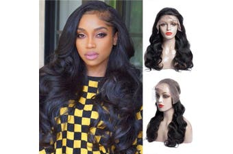 (46cm , Natural Color) - Human Hair Lace Front Wigs Body Wave Wig Pre Plucked With Baby Hair Brazilian Unprocessed Virgin Hair 150% Density Natural Colour Human Hair Wigs For Black Women (46cm , Natural Colour)