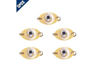 Comidox 5Pcs Metal LED Deep Underwater Eye Shape Fishing Lures Bait Light Lamp Tool Many Colours to Attract Fish