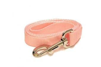 (1.2m-Long x 1.9cm  Wide, Pearl Pink) - Pearl Pink 1.2m Long (1.9cm width) Premium Pet Leash by Collar Galaxy