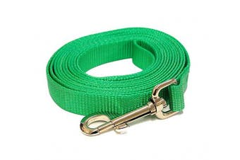 (1.2m-Long x 1cm  Wide, Vivacious Green) - Vivacious Green 1.2m Long (1cm width) Premium Pet Leash by Collar Galaxy