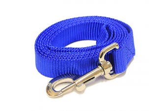 (1.2m-Long x 2.5cm  Wide, Pacific Blue) - Pacific Blue 1.2m Long (2.5cm width) Premium Pet Leash by Collar Galaxy
