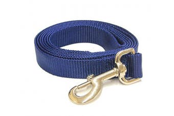 (1.8m-Long x 1.9cm  Wide, Deepwater Blue) - Deepwater Blue 1.8m Long (1.9cm width) Premium Pet Leash by Collar Galaxy