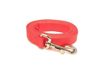 (1.2m-Long x 1.9cm  Wide, Shimmering Red) - Shimmering Red 1.2m Long (1.9cm width) Premium Pet Leash by Collar Galaxy