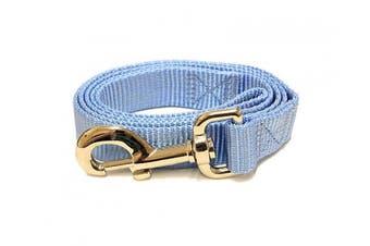 (1.2m-Long x 1.9cm  Wide, Caribbean Blue) - Caribbean Blue 1.2m Long (1.9cm width) Premium Pet Leash by Collar Galaxy
