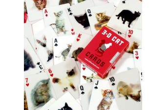 (Cat) - 3D CAT POKER SIZE PLAYING CARDS