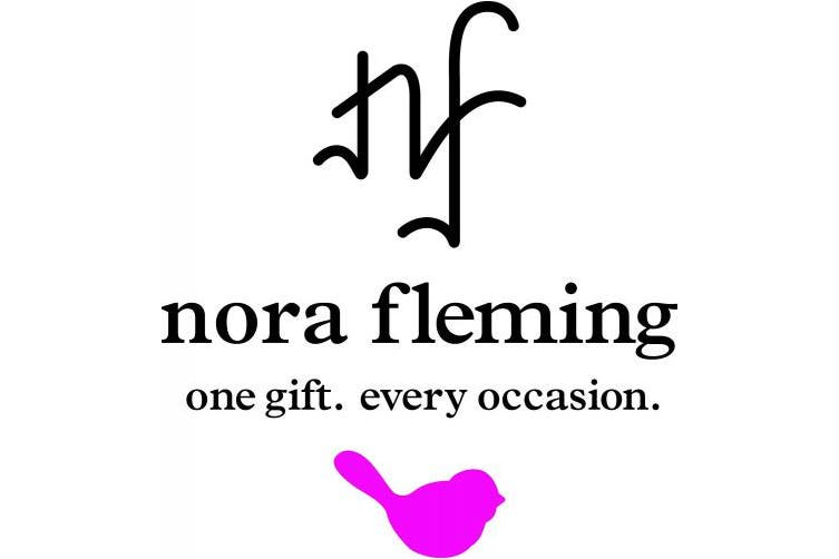 nora fleming chip and dip bowl