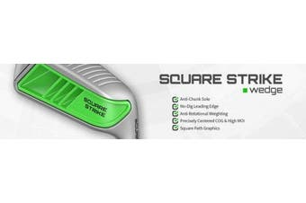 (Right, Stainless-Steel, Wedge, 55 Degrees) - Square Strike Wedge -Pitching & Chipping Wedge for Men & Women -Legal for Tournament Play -Engineered by Hot List Winning Designer -Cut Strokes from Your Golf Game Fast