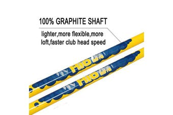 (70cm ,age 9-12, gold head+yellow shaft+blue grip) - Acstar Two Way Junior Golf Putter Kids Putter Both Left and Right Handed Easily Use 3 Sizes for Ages 3-5 6-8 9-12