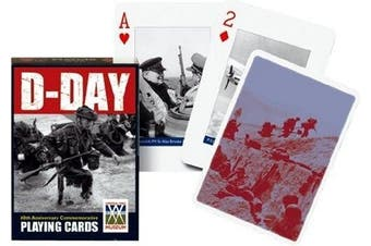 Piatnik D-Day World War II Single Deck Austrian Playing Cards 1157 WWII