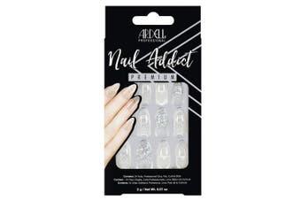 (Glass Deco) - Ardell Nail Addict Premium Artificial Nail Set, Glass Deco