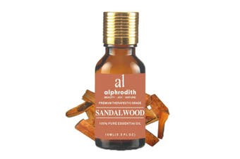 (Indian Sandalwood, 10ml) - Premium Aromatherapy Indian Sandalwood Essential Oil 100% Organic Pure Undiluted Therapeutic Grade Scented Oils - 10ml for Diffuser, Relaxation, Skin Therapy & More (Indian Sandalwood, 10ml)
