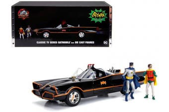 1:18 Batman The Classic TV Series Batmobile diecast Vehicle with diecast Batman and Robin Figures