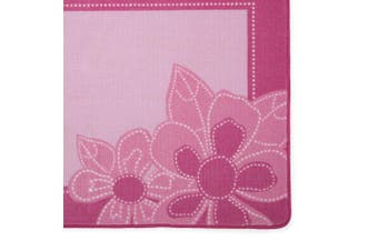 (Floral and Polka Dots) - Kids Area Rug, Girls Flowers | Children's Room Carpet in Pink with Floral Accents | Delta Children
